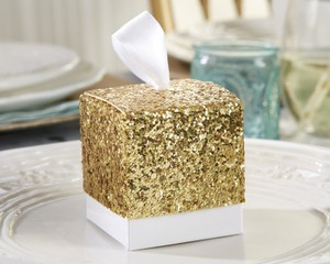 Lot Of 96 Gold Glitter Favor Boxes Wedding Shower Anniversary Party Event Decor Bridal Gift Bridal Party