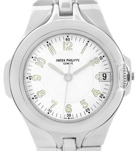 Patek Philippe Patek Philippe Sculpture Stainless Steel White Dial Watch 5091/1a-001