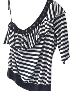 bebe Top Black/white