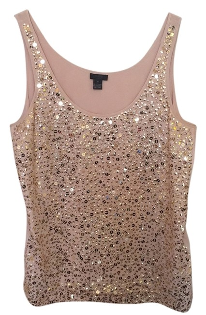 Preload https://img-static.tradesy.com/item/14892886/jcrew-peach-gold-night-out-top-size-12-l-0-1-650-650.jpg