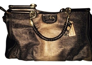 Coach Satchel in Brownish gold tones with gold hardware