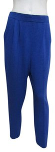 St. John Santana Knit 6 Medium Straight Pants Royal Blue