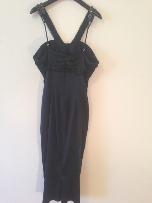 Maria Bianca Nero Silk Beaded Fitted Cocktail Weddig New Years Sweetheart Dress