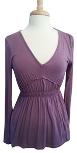 Daisy Fuentes Empire Waist Top Plum