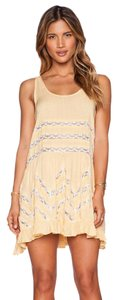 Free People short dress Mango Combo Voile And Lace Trapeze Slip on Tradesy