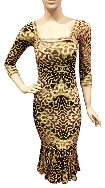 Preload https://item2.tradesy.com/images/just-cavalli-knee-length-cocktail-dress-size-6-s-14893666-0-1.jpg?width=400&height=650