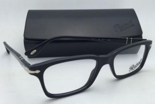 Persol New PERSOL Rx-able Eyeglasses 3030-V 95 50-17 140 Black Frame w/ Clear Lenses