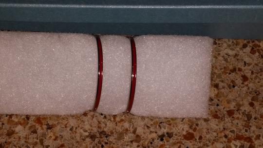 Unknown Large Red & Silver Hoops