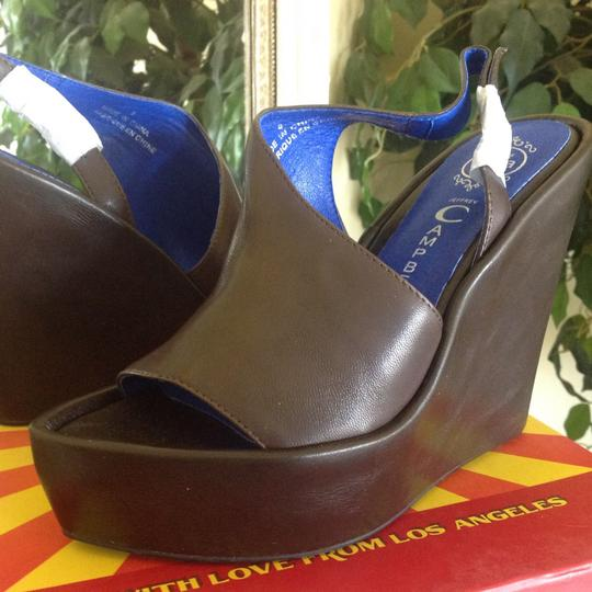 Jeffrey Campbell Sandals Leather Brown Wedges