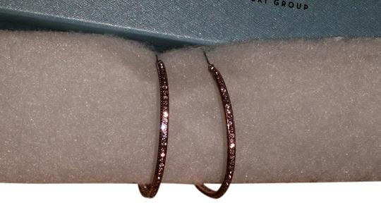 Claire's Rose Gold Colored Large Pave Crystal Hoops