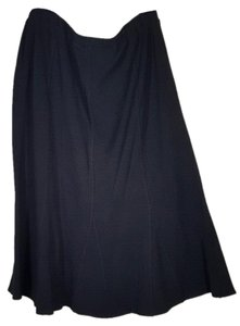 Eileen Fisher Viscose Skirt Black