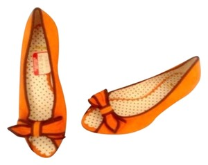 Moschino Orange & Black Flats