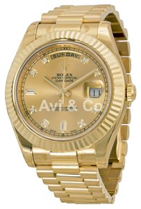 Rolex Rolex Day-Date II 18K Yellow Gold Champagne Diamond Dial 218238