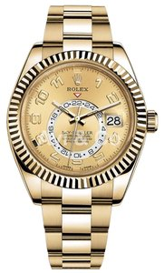 Rolex Rolex Sky-Dweller 18K Yellow Gold Watch Champagne Dial 326938