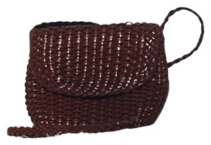 Cole Haan Woven Leather Cross Body Bag