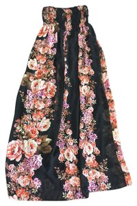 Black with multicolors Maxi Dress by Mono B
