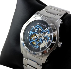 Armitron Armitron Stainless Steel Automatic Skeleton Wristwatch-33mm