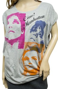 Hysteric Glamour Women's Andy Warhol T Shirt Gray