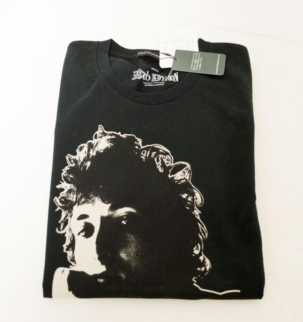 Hysteric Glamour T-shirt Bob Dylan Rock And Roll Egyptian Cotton T Shirt Black