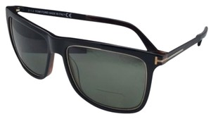 Tom Ford Polarized TOM FORD Sunglasses KARLIE TF 392 01R 57-17 Black & Gold Frames w/ Green Lenses