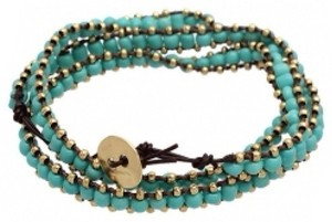 Other Turquoise Brown Wrap Bracelet