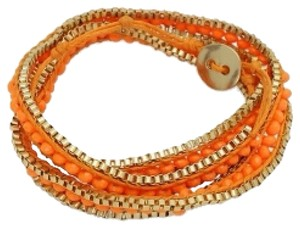 Other Orange Wrap Bracelet