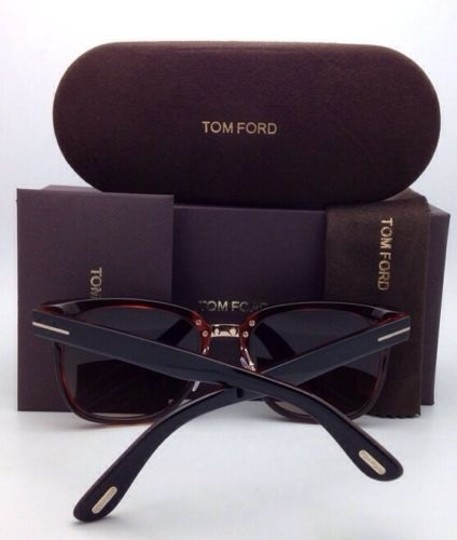 Tom Ford New TOM FORD Sunglasses ROCK TF 290 01F 55-20 Black Havana Frame/ Brown Gradient