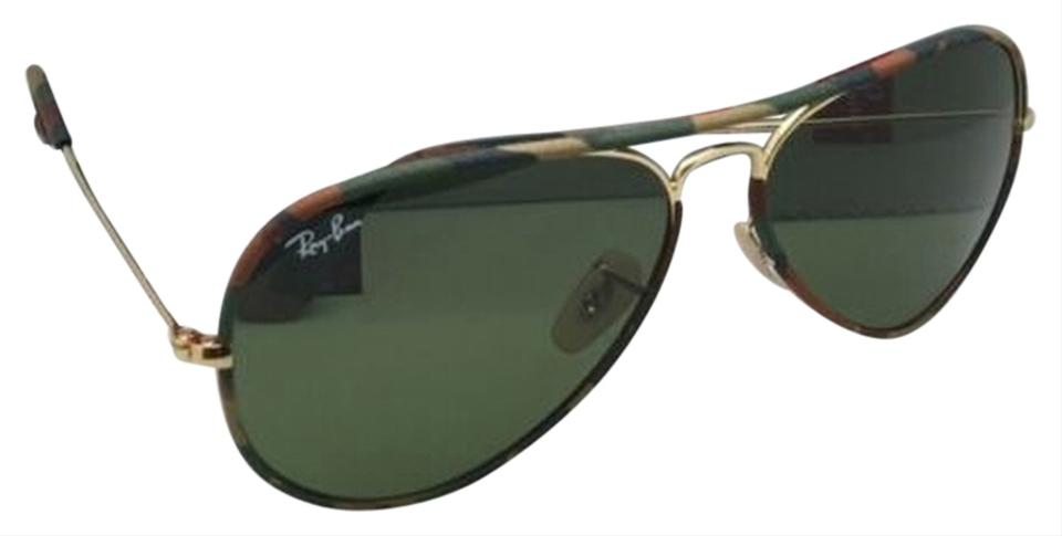 cea8be796cc Ray-Ban Rb 3025-j-m 168 4e Multi-color Camouflage W Green Lens New ...