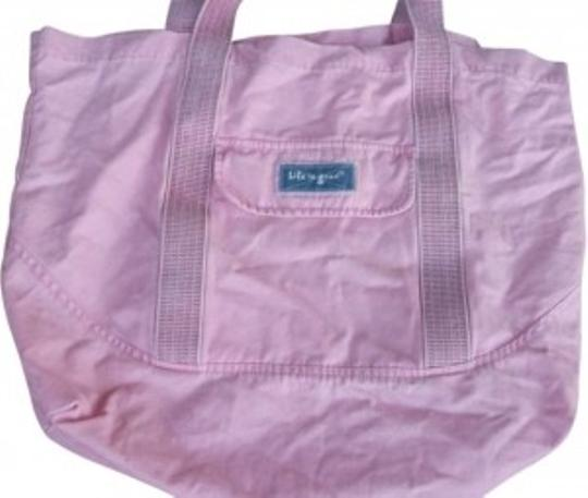 Preload https://img-static.tradesy.com/item/148982/life-is-good-over-sized-tote-pink-cotton-beach-bag-0-0-540-540.jpg