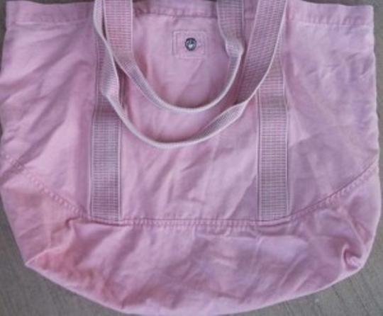 Life is Good Over Sized Tote Cotton Sporty Casual Exercise Pink Beach Bag