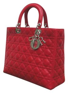 Dior Lady Large Tote in Red
