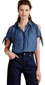 Anthropologie Anthropolgie Holding Horses Button Down Shirt Blue