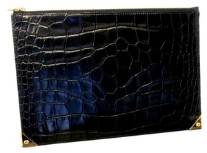 Alexander Wang Alexander Wang Signature 2015 Runway Crocodile Leather Prisma Clutch Wallet with Gold *Sold Out*