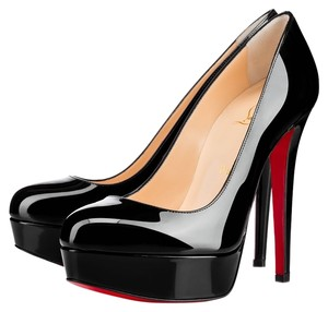Christian Louboutin Bianca Size 8.5 Size 9 Leather Black patent Pumps