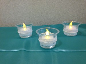 Lace Oyster Candle Holders