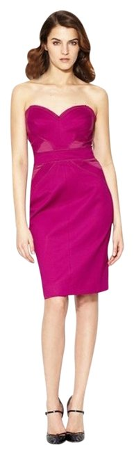 Preload https://item3.tradesy.com/images/zac-posen-pink-berry-new-bonded-bustier-strapless-sheath-berry-color-knee-length-cocktail-dress-size-14899057-0-5.jpg?width=400&height=650