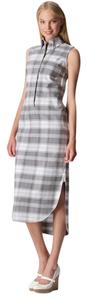 Brooks Brothers Checkered Cotton Maxi Sleeveless Dress