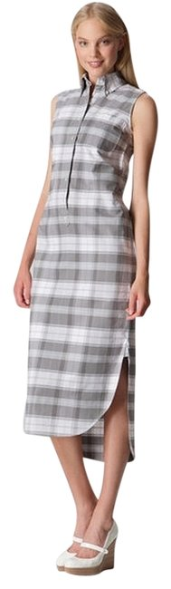 Preload https://item2.tradesy.com/images/black-fleece-by-brooks-brothers-checkered-cotton-maxi-dress-grey-1489906-0-0.jpg?width=400&height=650