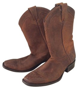 Frye Leather Western Handmade Brown Boots