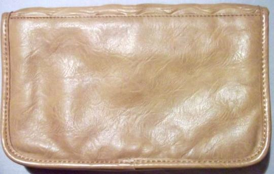 Unknown Leather W/ Gold Closure Never Used Chic Boho Party Evening Date Night Eclectic Night Out Trendy Camel Clutch
