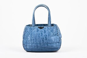 Dior Fabric Top Handle Tote in Blue