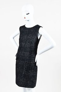 Dolce&Gabbana short dress Gray Wool Sl Jewel Neck Shift on Tradesy