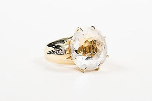 Other H. Stern 18k Yellow Gold Quartz Diamond Moonlight Crystal Cocktail Ring