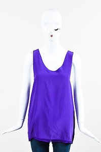 Chloé Chloe Silk Top Purple
