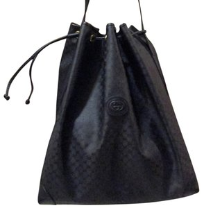 Gucci Drawstring Large Tote Shoulder Bag