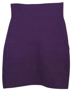 BCBGMAXAZRIA Mini Skirt Purple