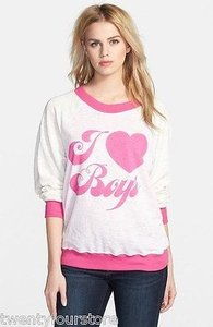 Wildfox Couture I Love Boys Kims Sweater Baggy Beach Sweatshirt
