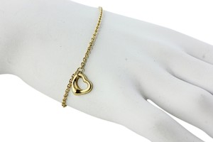 Tiffany & Co. Tiffany & Co 18K Yellow Gold Heart Charm Bracelet/ Anklet