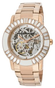 BCBG BCBG Rose Gold Baguette Gears Watch