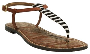 Sam Edelman Black and White Stripe Sandals